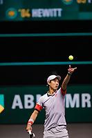 Rotterdam, The Netherlands, 28 Februari 2021, ABNAMRO World Tennis Tournament, Ahoy, First round doubles: Kei Nishikori (JPN).<br /> Photo: www.tennisimages.com/henkkoster