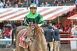 # 1 Dunbar Road wins the Alabama Stakes(gr (gr1) ridden by Jose Ortiz, trained by Chad Brown Aug. 17, 2019 :during racing at Saratoga Race Course in Saratoga Springs, New York. Robert Simmons/Eclipse Sportswire/CSM