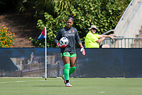 CARY, NC - SEPTEMBER 12: Abby Smith #35 of the Portland Thorns warms up before a game between Portland Thorns FC and North Carolina Courage at WakeMed Soccer Park on September 12, 2021 in Cary, North Carolina.