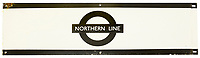 BNPS.co.uk (01202) 558833. <br /> Pic: CatherineSouthonAuctioneers/BNPS<br /> <br /> Pictured: A London Underground enamel station frieze sign for 'Northern Line' is expected to sell for £160. <br /> <br /> Two rare London Underground signs for a branch of the Northern Line that was never built have emerged for sale more than 80 years later.<br /> <br /> Work had started on the Bushey Heath extension in 1939 but was suspended due to the outbreak of the Second World War and the land was used for farming vegetables instead,<br /> <br /> Despite the fact it never got beyond groundworks and tunnelling, signs were made detailing the new extension stations.<br /> <br /> Two signs which list the three stations planned for the extension - Brockley Hill, Elstree South and Bushey Heath - have now emerged for sale from a large single owner railway collection and are expected to fetch £2,100.