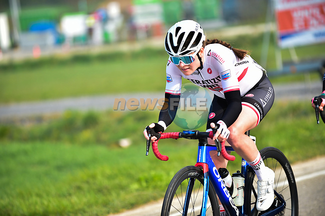 Marta Lach (POL) Ceratizit–WNT Pro Cycling Team from the breakaway during the 2021 Flèche-Wallonne Femmes, running 130.2 km from Huy to Huy, Belgium. 21st April 2021.  <br /> Picture: A.S.O./Gautier Demouveaux   Cyclefile<br /> <br /> All photos usage must carry mandatory copyright credit (© Cyclefile   A.S.O./Gautier Demouveaux)