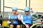 Ross Wilson and Michael Sametz, Rio 2016 - Para Cycling // Paracyclisme.<br /> Ross Wilson and Michael Sametz compete in the Para-Cycling final 1000m Time Trial // Ross Wilson et Michael Sametz participent à la finale du paracyclisme sur 1000 m contre la montre. 10/09/2016.