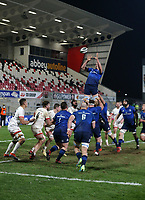 6 March 2021; Devin Toner takes this lineout ball for Leinster during the Guinness PRO14 match between Ulster and Leinster at Kingspan Stadium in Belfast. Photo by John Dickson/Dicksondigital