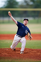 Southern Maine Huskies relief pitcher Bobby Delaney (27) delivers a pitch during a game against the Dartmouth Big Green on March 23, 2017 at Lake Myrtle Park in Auburndale, Florida.  Dartmouth defeated Southern Maine 9-1.  (Mike Janes/Four Seam Images)