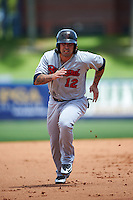 Brevard County Manatees third baseman Taylor Brennan (12) during a game against the St. Lucie Mets on April 17, 2016 at Tradition Field in Port St. Lucie, Florida.  Brevard County defeated St. Lucie 13-0.  (Mike Janes/Four Seam Images)