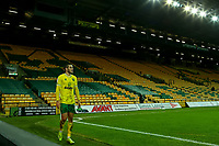 2nd January 2021; Carrow Road, Norwich, Norfolk, England, English Football League Championship Football, Norwich versus Barnsley; Emi Buendia of Norwich City walls round the pitch after being substituted