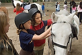 Horse riding at the Westway Sports Centre, West London.
