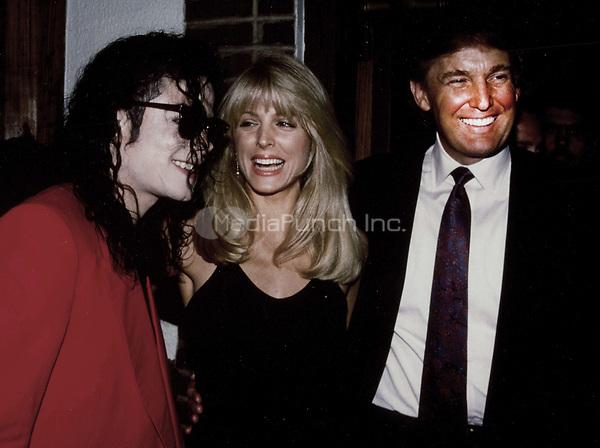 Michael Jackson, Marla Maples, Donald Trumpk 1991<br /> Photo By John Barrett-PHOTOlink.net / MediaPunch