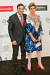 """King Felipe of Spain and Queen Letizia of Spain attend 'XIII EDICIÓN DE LOS PREMIOS INTERNACIONALES DE PERIODISMO 2013 Y CONMEMORACIÓN DEL 25º ANIVERSARIO DEL DIARIO """"EL MUNDO"""" at The Westin Palace Hotel. <br /> Pedro J. Ramirez and Agata Ruiz de la Prada<br /> October 20, 2014. (ALTERPHOTOS/Emilio Cobos)"""