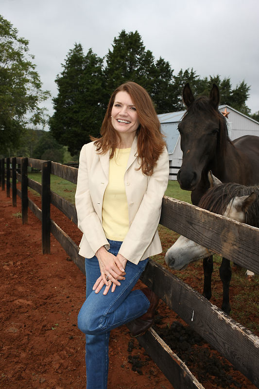 """{September 18, 2009} {11am} -- Culpeper, VA. -- Jeannette Walls is the author of """"Half-Broke Horses: A True Life Novel."""" The book is about her grandmother who was a wild west woman who broke horses.. -- ...Photo by Andrew B. Shurtleff, Freelance."""