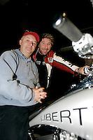 Michel Barette, Peter McLeod<br /> , CKOI FM, February 2005<br /> photo : (c) images Distribution