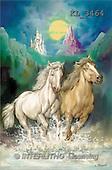 Interlitho, Luis, FANTASY, paintings, 2 horses, castle, night, KL, KL3464,#fantasy# illustrations, pinturas