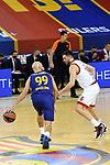 Turkish Airlines Euroleague 2020/2021. <br /> Regular Season-Round 9.<br /> FC Barcelona vs Olympiacos Piraeus: 88-96.<br /> Nick Calathes vs Kostas Papanikolau.
