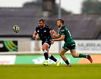 4th June 2021; Galway Sportsgrounds, Galway, Connacht, Ireland; Rainbow Cup Rugby, Connacht versus Ospreys; Jack Carty plays the ball away for Connacht