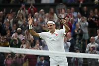 5th July 2021, Wimbledon, SW London, England; 2021 Wimbledon Championships, day 7; Roger Federer , Switzerland