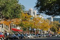 Canada, Montreal, Rue St Denis, street scene