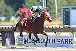 August 2, 2015. Tell Tale Friend, Orlando Bocachica up,  wins race 1, the Michael Hughes Memorial, six furlongs for thee year olds and upward, at Monmouth Park in Oceanport, NJ.  Joan Fairman Kanes/ESW/CSM