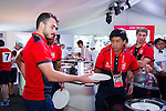 Guest attends the HSBC Sevens Village as part of the Cathay Pacific / HSBC Hong Kong Sevens at the HSBC Sevens Village on 29 March 2015 in Hong Kong, China. Photo by Moses Ng  / Power Sport Images