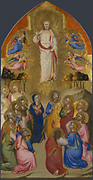 Full title: The Ascension<br /> Artist: Attributed to Jacopo di Cione and workshop<br /> Date made: 1370-1<br /> The National Gallery, London