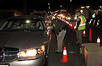 during a DUI checkpoint in Carson City, Nev. on Sunday, Sept. 2, 2012. Several area agencies participated including Carson City Sheriff's Department, Nevada Highway Patrol and Lyon County Sheriff..Photo by Cathleen Allison