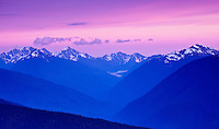 Evening in the Olympic Mountains, Olympic National Park, Washington State