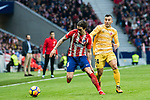 Sime Vrsaljko (L) of Atletico de Madrid fights for the ball with Borja Garcia Freire of Girona FC during the La Liga 2017-18 match between Atletico de Madrid and Girona FC at Wanda Metropolitano on 20 January 2018 in Madrid, Spain. Photo by Diego Gonzalez / Power Sport Images