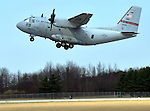 Media event at the Ohio Air National Guard, 179th Airlift Wing Base in Mansfield, Ohio to explain proposed cutbacks by the United States Air Force that would impact the base and the unit's C-27J cargo aircraft, held on March 19, 2012.