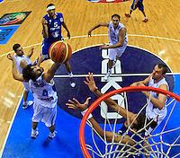 round 1, Group B, basketball game between Serbia and France in Lithuania, Siauliai, Siauliu arena, Eurobasket 2011, Monday, September 5, 2011. Milos Teodosic, Joakim Noah (photo: Pedja Milosavljevic/SIPA PRESS)  remote