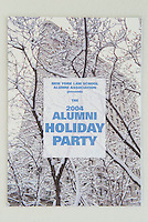 Holiday Invitation, 2004<br /> Client - New York Law School, New York, NY<br /> <br /> Photo of the the Flatiron Building in the snow available from Getty Images.  Please search for image # 200111762-001