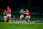 Aaron O'Shea, Kerry in action against Richard O'Sullivan, Cork during the Munster Minor Semi-Final between Kerry and Cork in Austin Stack Park on Tuesday evening.