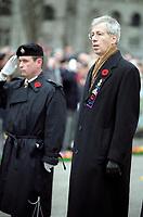 FILE PHOTO - Minister Stephane Dion<br />  joins  veterans and soldier on November 11, 2004<br /> <br /> PHOTO : Agence quebec Presse