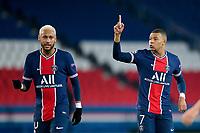 Neymar Jr (PSG) / Kylian Mbappe (PSG) <br /> Paris 24/11/2020<br /> PSG Paris Saint Germain - Leipzig <br /> Champions League 2020/2021<br /> Photo JB Autissier / Panoramic / Insidefoto <br /> Italy Only
