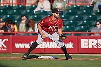 Altoona Curve first baseman Jerrick Suiter (31) during an Eastern League game against the Erie SeaWolves on June 3, 2019 at UPMC Park in Erie, Pennsylvania.  Altoona defeated Erie 9-8.  (Mike Janes/Four Seam Images)