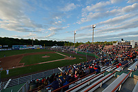 General view of a Potomac Nationals game against the Salem Red Sox on May 13, 2017 at G. Richard Pfitzner Stadium in Woodbridge, Virginia.  Potomac defeated Salem 6-0.  (Mike Janes/Four Seam Images)