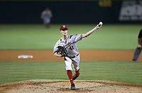 Nebraska Tyler Martin (41) pitches, Saturday, June 5, 2021 during the seventh inning in the second game of the NCAA Fayetteville Regional at Baum-Walker Stadium in Fayetteville. Check out nwaonline.com/210606Daily/ for today's photo gallery. <br /> (NWA Democrat-Gazette/Charlie Kaijo)