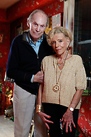 """NEW YORK - FOR SUNDAY NEWS:  Gloria Sher, 81, and her husband Sir Frederick Evans in their Upper East side home in Manhattan, NY on Friday, October 1, 2010.   The elderly couple were on a cruise ship the QE(?) when they over heard a woman make the comment, """"there are to many Jews on this ship.""""  After they complained, they were ordered locked in their cabin by the captain for five days and at one port of call the crew tried to abandon them.<br /> <br /> PICTURED:    <br /> <br /> (Photo by Angel Chevrestt, 646.314.3206)"""