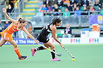 The Hague, Netherlands, June 05: Kayla Whitelock #1 of New Zealand runs with the ball during the field hockey group match (Women - Group A) between New Zealand and The Netherlands on June 5, 2014 during the World Cup 2014 at Kyocera Stadium in The Hague, Netherlands. Final score 0-2 (0-2) (Photo by Dirk Markgraf / www.265-images.com) *** Local caption ***