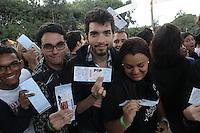SAO PAULO, SP, 23 JUNHO 2012 - POP MUSIC FESTIVAL -  Publico durante o Music Pop Festival no Anhembi na regiao norte de Sao Paulo neste sábado, 23. (FOTO: FRANCISCO CEPEDA / BRAZIL PHOTO PRESS).