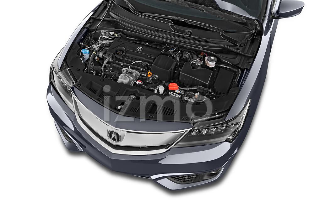 Car stock 2018 Acura ilx Tech Plus A Spec 4 Door Sedan engine high angle detail view