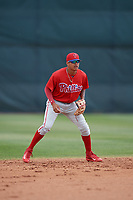 Philadelphia Phillies Arquimedes Gamboa (30) during a minor league Spring Training game against the Pittsburgh Pirates on March 24, 2017 at Carpenter Complex in Clearwater, Florida.  (Mike Janes/Four Seam Images)