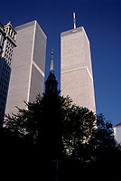 File Photo , New York , (NY) USA<br /> <br /> <br /> World Trade Center twin towers.<br /> (c) by Pierre Roussel / IMAGES DISTRIBUTION