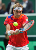 02-02-14,Czech Republic, Ostrava, Cez Arena, Davis Cup Czech Republic vs Netherlands, ,   Thiemo de Bakker (NED)  <br /> Photo: Henk Koster