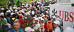 Spectators watch the day four of the UBS Hong Kong Open Championship at the Hong Kong Golf Club on 18 November 2012, in Fanling. Photo by Victor Fraile / The Power of Sport Images