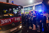 Silent march remembering the Grenfell fire victims. Attended by former residents, firefighters and friends and family of the victims. West London. 14-11-17