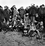 Hare Coursing...Family groups gather for a days coursing at the Waterloo Cup. Near Altcar, Lancashire...Hunting with Hounds / Mansion Editions (isbn 0-9542233-1-4) copyright Homer Sykes. +44 (0) 20-8542-7083. < www.mansioneditions.com >.