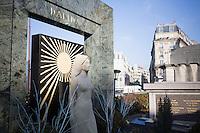 TOMBE DE DALIDA AU CIMETIERE MONTMARTRE DANS LE 18EME ARRONDISSEMENT, LE 17 JANVIER 2017 A PARIS. # SUR LES TRACES DE DALIDA
