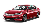 2017 Honda Accord Sport 4 Door Sedan Angular Front stock photos of front three quarter view