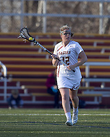 Boston College attacker Moira Barry (12). University at Albany defeated Boston College, 11-10, at Newton Campus Field, on March 30, 2011.