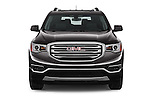 Car photography straight front view of a 2018 GMC Acadia SLT-1-FWD 5 Door SUV Front View