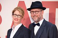 "directors, Valerie Faris and husband, Jonathan Drayton<br /> arriving for the London Film Festival 2017 screening of ""Battle of the Sexes"" at the Odeon Leicester Square, London<br /> <br /> <br /> ©Ash Knotek  D3322  07/10/2017"